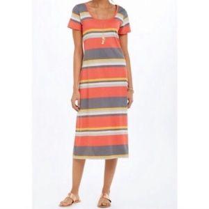 SATURDAY SUNDAY Striped Scoop Neck Maxi Dress S